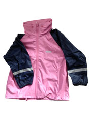 Pink & Navy Ocean Rainwear Jacket