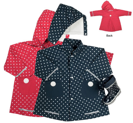 Blue dots coat and umbrella from Playshoes