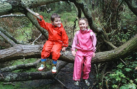 Kaitlyn and Finlay enjoying the great outdoors in Kiba Suits