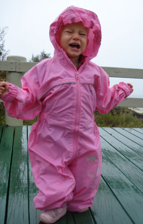 Baily in Puddle suit