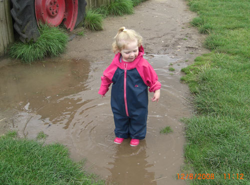 Chloe in Togz and Puddle!
