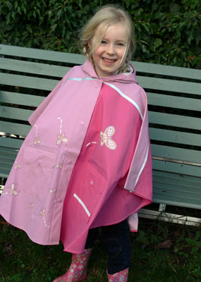 Ines who loves her pink cape!
