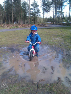 Mud biking in Regatta suit