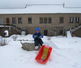 Sledging at home!