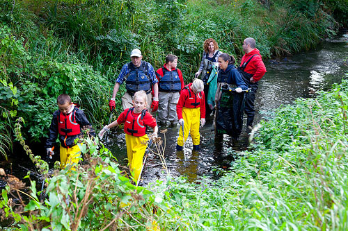 Keep Wales Tidy - River Clearing in Waterproof World Waders
