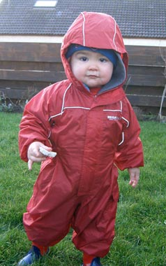 Outdoor fun for Leo in his Regatta Puddle Suit