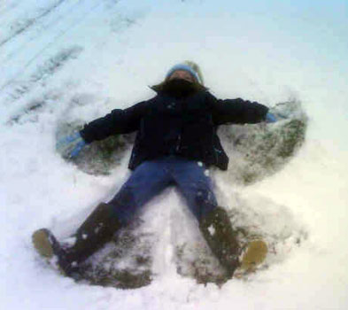 Snow Angels at Easter!