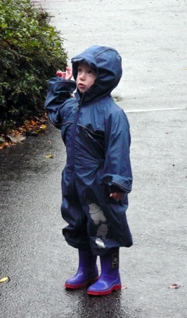 Oliver in Puddle Suit