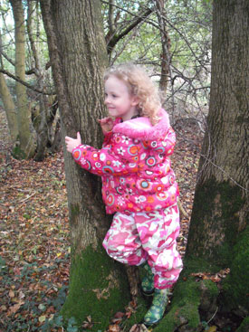 Elouise in the trees!