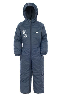 Trespass Drip Drop Thermally Lined Suit in Navy. Great for outdoor learning