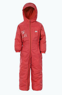 Trespass Drip Drop Thermally Lined Suit in Red. Great for outdoor learning
