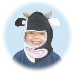 Cow balaclava in Black/White