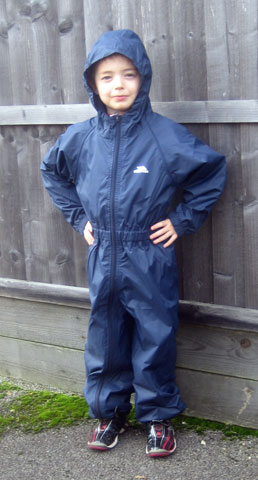 Trespass Button Suit in Navy. Great for outdoor learning