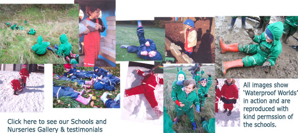 Some lovely action shots in 'Waterproof Worlds' sent in to us by schools and nursery settings