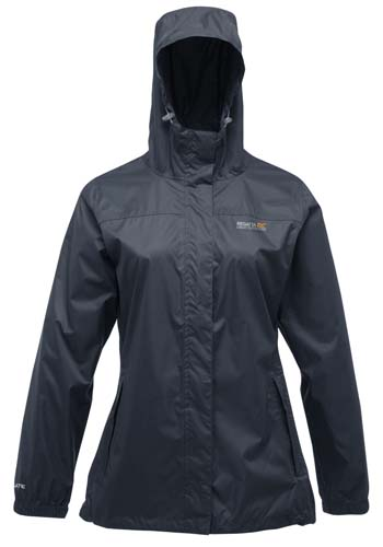 Ladies Midnight Blue Waterproof Breathable Jacket