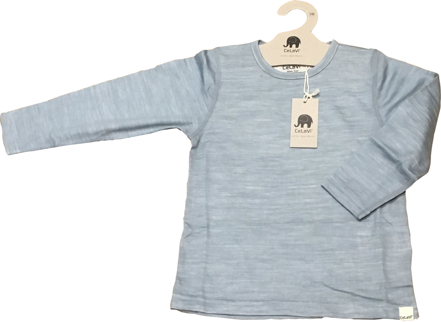 CelaVi luxury kids base layer top with merino wool outer layer, and smooth comfortable bamboo inner layer