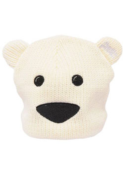 Toddlers Polar Bear Knitted Beanie Hat